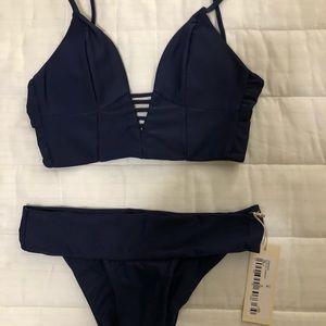 NWT Tori Praver Navy Bikini